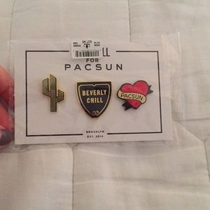 Set of pins from Pacsun